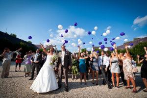 Luftballon steigen lassen Schloss Halbturn