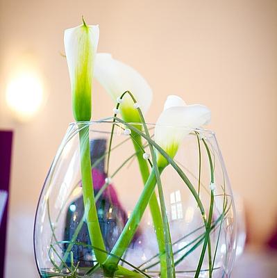 Calla, Hochzeitstischdekoration, Blumendekortion